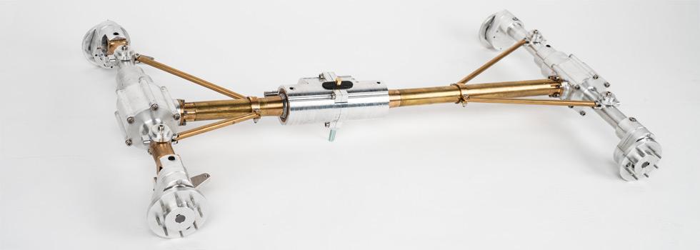 Antriebsstrang und Reifensatz für Unimog-Modelle von Pistor Modellbau